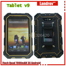 ORIGINAL 7.0 Inch Tablet PC V9, IP68 Waterproof GSM/ WCDMA 7000mAH MTK8382 Quad core 3G Android4.4 tablet PC T07(China (Mainland))
