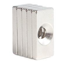 10pcs 4mm Hole Countersunk Magnets Block Neodymium N35 Rare Earth