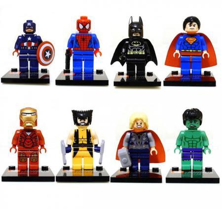 Free Shipping 8pcs/Lot 2014 New Super Heroes Series Action&Toy Figures Minifigures Blocks DIY Building Toys IQ Exercise Figures(China (Mainland))