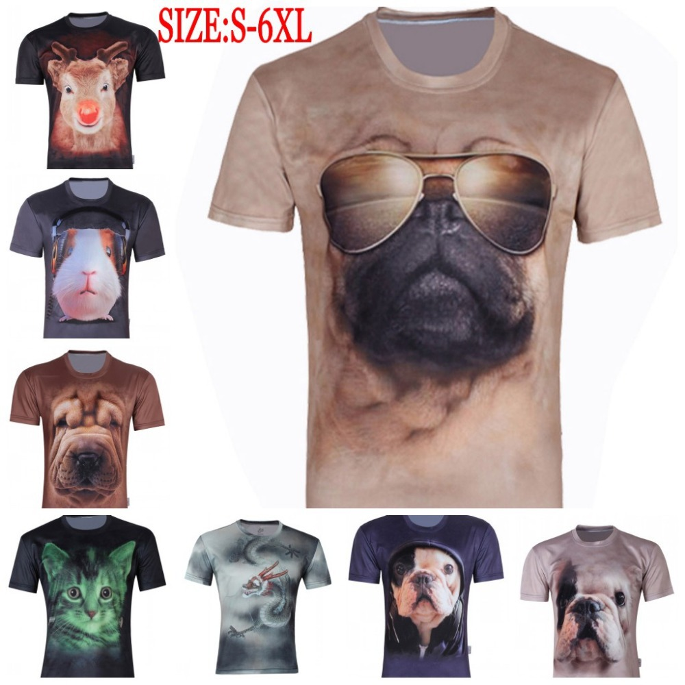 New 2015 Men's Chameleon 3D Clothes Creative Animal T-Shirt Short Sleeve Digital Printed T Shirt Polyester Plus Size Tops S-6XL(China (Mainland))