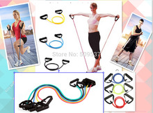 A Heavy Resistance Exercise Band Workout Stretch Fitness Tube Yoga Latex Rope Equipment Fitness Band tubing cable