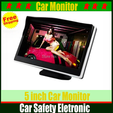 Hot selling high quality tft lcd 5 inch Car Monitor Car TV Monitors fit for car rearview backup reverse camera DVD VCR(China (Mainland))