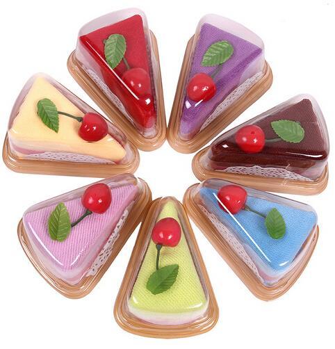 10pcs/lot Sandwich shape cake towel wedding party decorative towel creative wedding gift(China (Mainland))