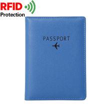 NYHED funda de pasaporte de viaje de alta calidad de cuero Pu para mujer, porta billetes, cartera pequeña para hombre(China)