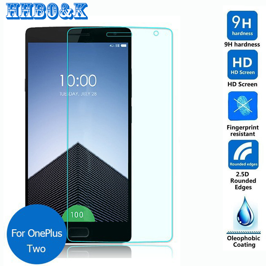 For Oneplus two Tempered Glass Screen Protector 2.5 9h Safety Protective Film on One Plus 2 A2001 A2003 A2005 Global Dual Sim(China (Mainland))