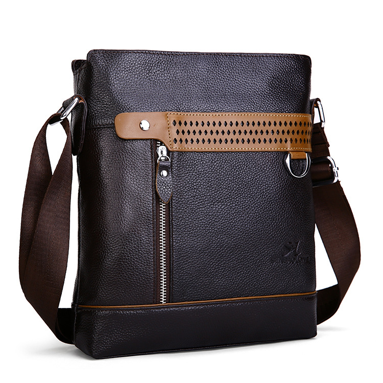 2015 men geniune first layer leather Shoulder Bag  Business casual bag free shipping 526<br><br>Aliexpress