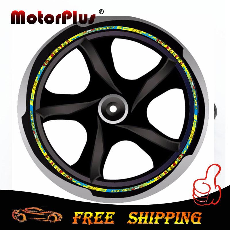 "Motorcycle Sticker Wheel Hub Rim Strip Decal 16""-18"" Valentino Rossi 46 VR46 The Doctor For Honda Yamaha Kawasaki KTM BMW Suzuki(China (Mainland))"