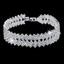 New Bayan Bileklik 2016 Women Bracelets Bracelet Pulseira Feminina Pulseras Mujer Crystal Jewelry Wide Love Brazaletes N003 Z5