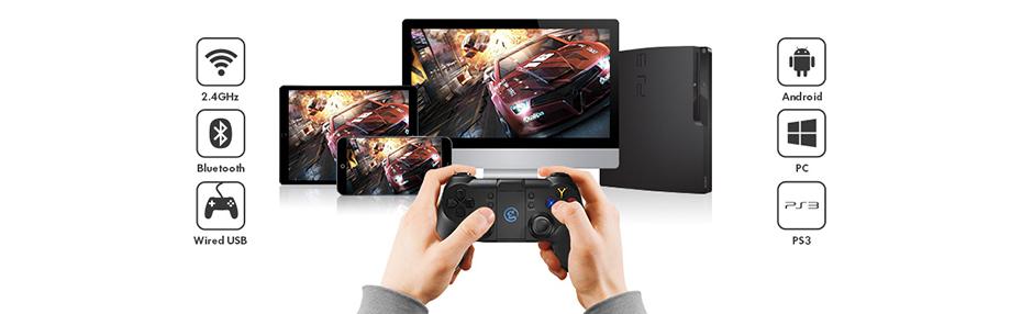 GameSir T1s Bluetooth 4.0 2.4GHz Wireless Gaming Controller Gamepads Joystick Remote Game