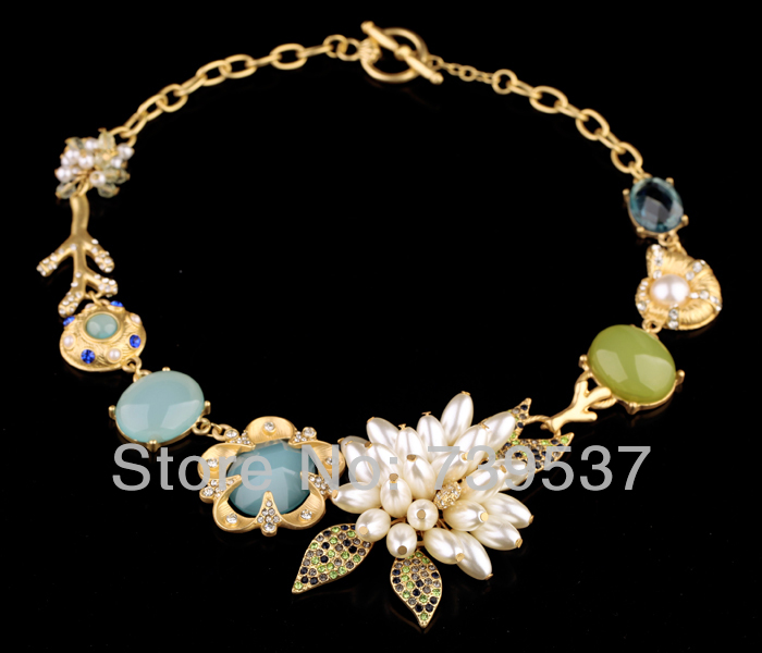 2014 New Design 18K Gold Women Jewelry Valentine Gift Charm Necklace(China (Mainland))
