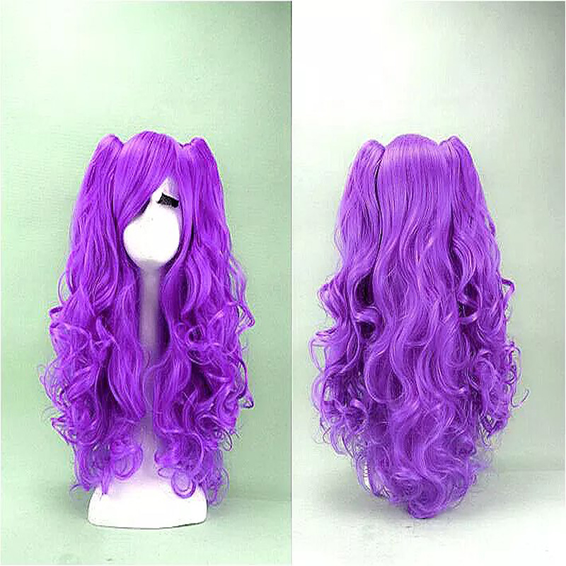 HAIRJOY Purple Red Blue Black Cosplay Wig Long Curly Synthetic Hair Cosplays Party Costume Lolita Wigs - Tony Mall-Quality. Comfort. Style. store