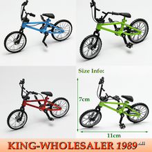 (6PCS/LOT) New Alloy Stand Finger Bike Children's Day Gift Finger Bicycle Kid's Birthday Gift Novelty Game Toys Free Shipping(China (Mainland))