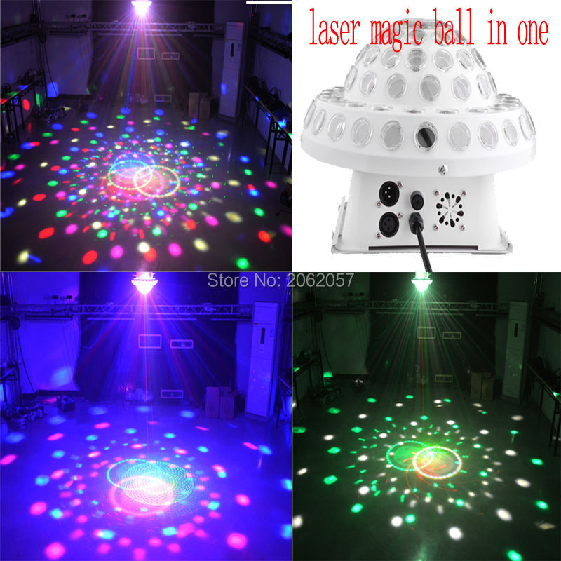 2016 LED 5*3W rgbyp magic ball red green laser light dj disco DMX512 profession Stage effect light sound control party lights(China (Mainland))