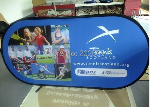 Horizontal Bean Pop Up A-Frame Banner with Printing - M size Free shipping to USA,Canada and West Europe(China (Mainland))