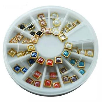 YZWLE 1 Wheel Nail Art Rhinestone & Decoration For DIY Nails Art Accessory Fashion Decorations Beauty Tools #JS21