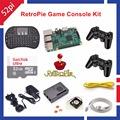 32GB RetroPie Game Kit with Raspberry Pi 3 Model B Wireless Controllers Gamepad Power Supply 5
