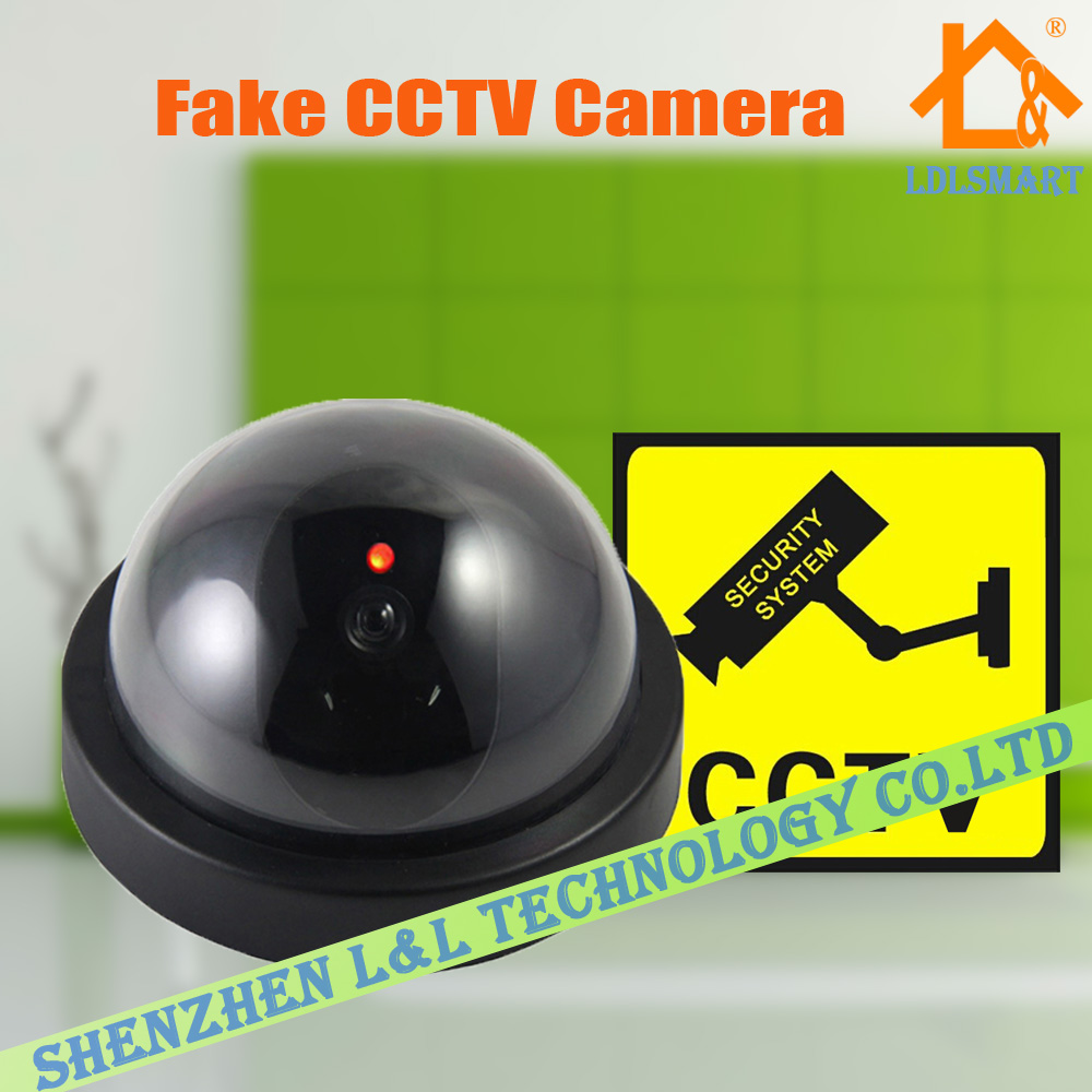 Flash Blinking Fake Camera LED Dummy Security Camera Dome CCTV Camera Surveillance Camera(China (Mainland))