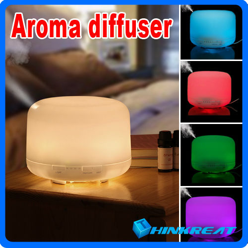Hot Sell Ultrasonic 500ml Colorful Perfume Diffuser Aroma Humidifier for Home&Office Air Humidifier/Diffuser with 7 Colors X-06#(China (Mainland))