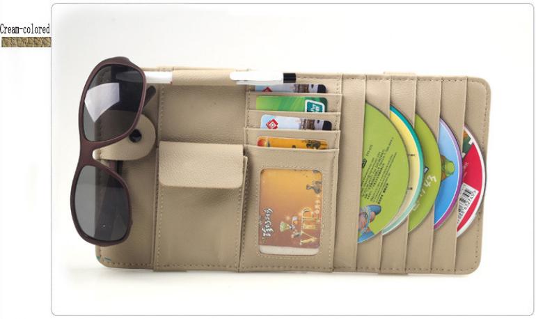 Universal Car glasses clip car CD visor clip sets utility vehicle with high-grade pen clip(China (Mainland))