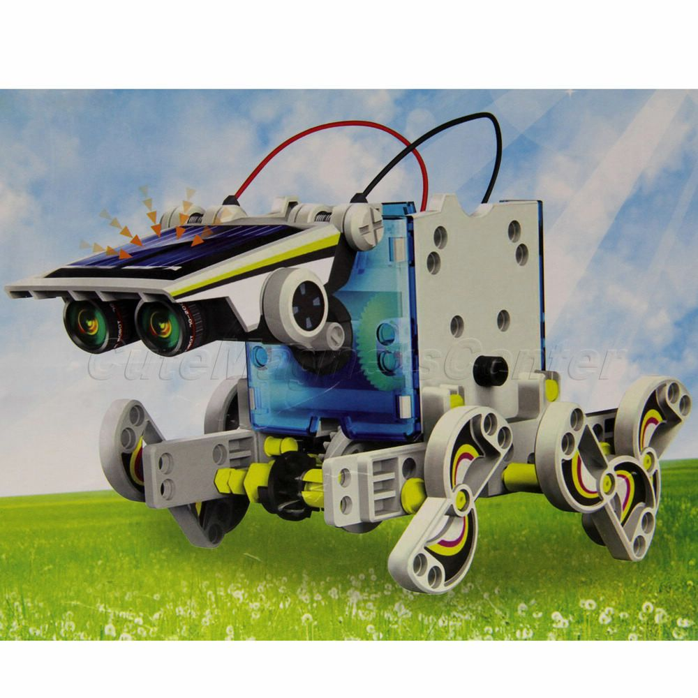 Good Quality Children DIY Model Educational Toy 14-in-1 Solar Energy Power Robot Boat Ship Transformable Toy Kit(China (Mainland))