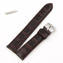 Essential Black/Brown High Quality Soft Sweatband PU Leather Strap Steel Buckle Wrist Watches Band Width18mm 20mm 22mm