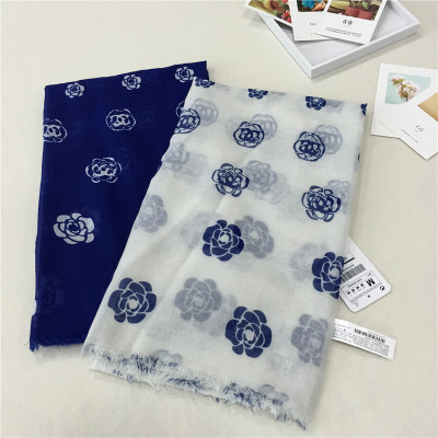 New Brand Rose Flower Print Aircondition Cotton Camellia Desigual Shawls And Scarves(China (Mainland))