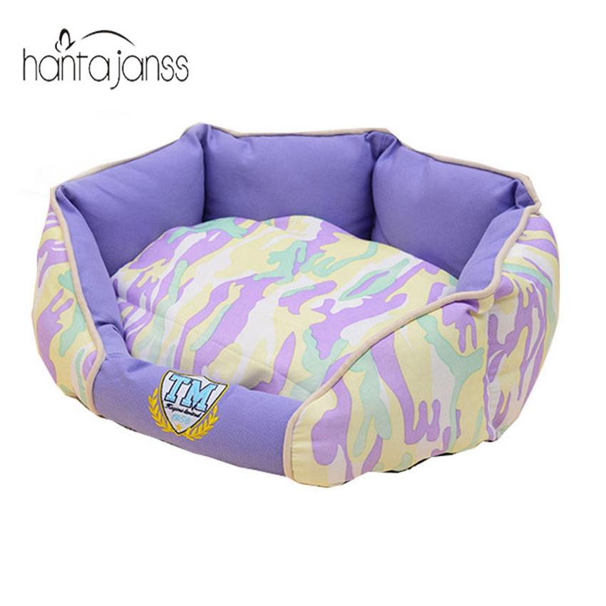 Hantajanss Fashion Camo Pet Beds Warm Kennel House Comfortable Cama Para Cachorro Mat High Quality Large Dog Bed Pet Supplies(China (Mainland))
