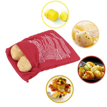 Новый красный моющийся плита мешок печеный картофель приготовления в микроволновой печи картофеля быстрый быстрый ( повара 4 картофель сразу )