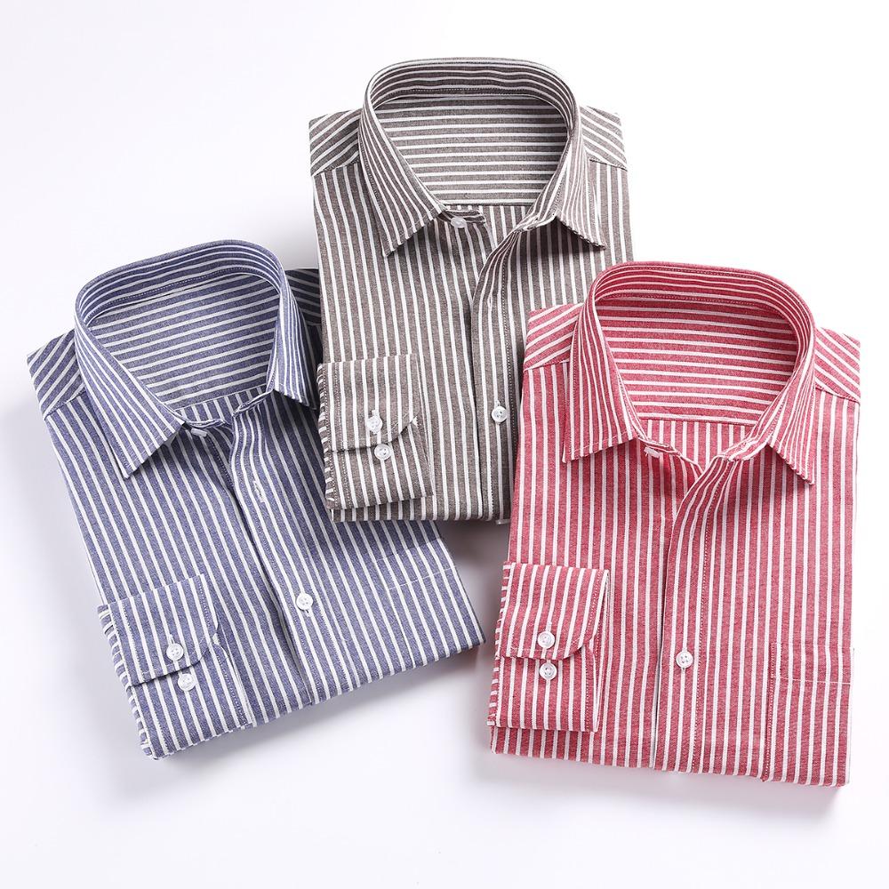 2016 men shirts long sleeve mens casual dress shirts for Men oxford slim fit long sleeve shirt