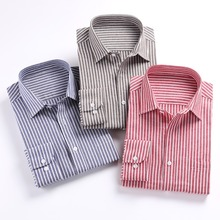 2016 Men Shirts Long Sleeve Mens Casual Dress Shirts Striped Plaid Mens Oxford Shirt Plus Size 5XL Slim Fit Chemise Homme Camisa