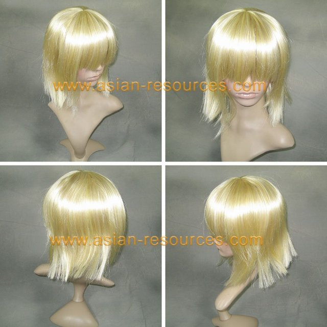 Wholesale Free Shipping Hot Selling Cheapest Halloween Bleach Cosplay Wig Shinji Short Wig without headband