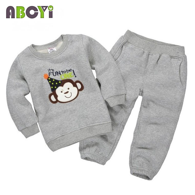 8 Styles! Long Sleeve Cartoon Printing Autumn Winter Kids Clothes Sport Suit 1-5 Years Girls Clothing Sets Baby Boy Tracksuit(China (Mainland))
