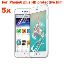 "High Quality 5PCS Ultra-Thin Protective Film for iphone 6 plus 5.5"" 2.5D 0.26mm HD Protective Film Clear Front Screen Protector"