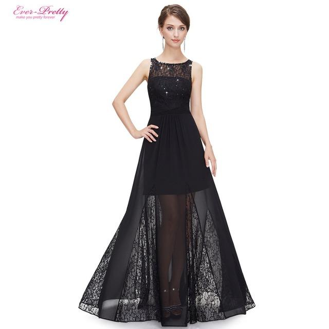 Платье выпускного вечера сексуальная элегантный рукавов длинные черные вечерние платья ...