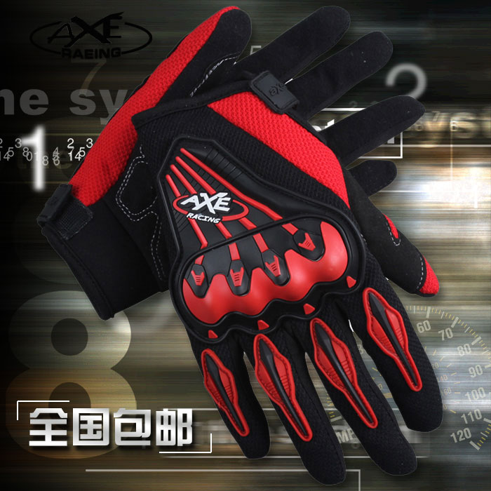Axe for summer motorcycle gloves full automobile race motorcycle gloves knight ride cross country gloves male