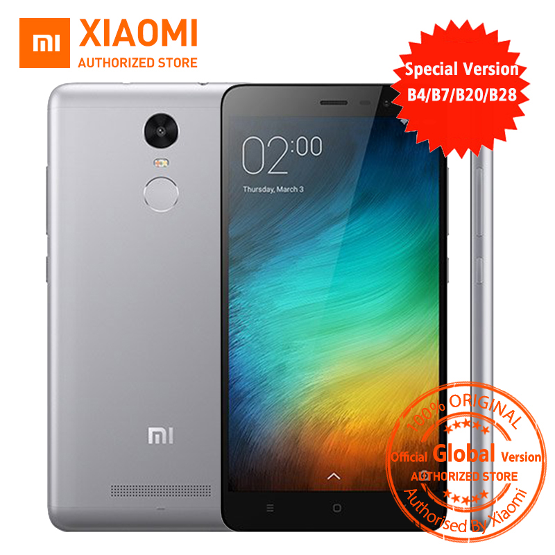 Official Global Version Xiaomi Redmi Note 3 3i pro prime special Edition Smartphone 5.5 Inch 3GB 32GB 16.0MP& B4 B20 B28 LTE(China (Mainland))