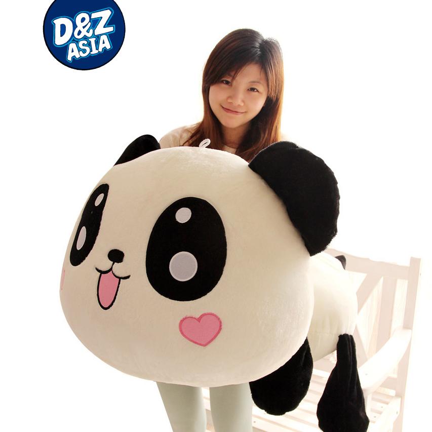 Lovely Lying down plush panda 1pcs 1# 55cm giant panda plush doll toys plush kung fu panda(China (Mainland))