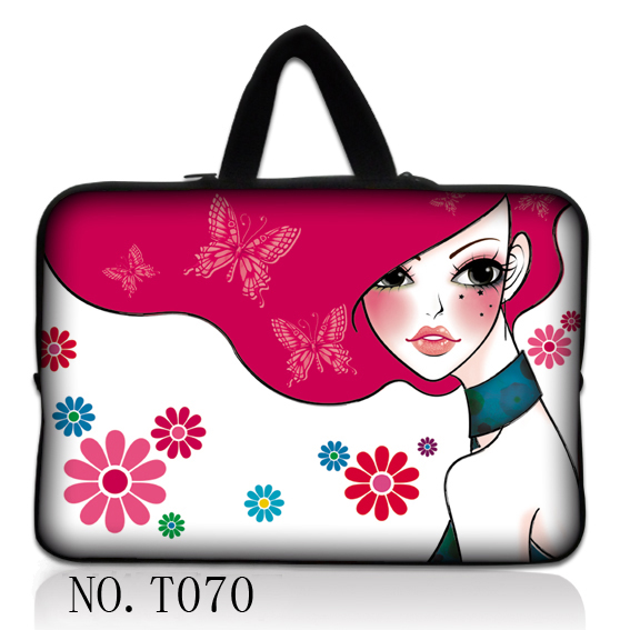 """Pink Girl Laptop Soft Sleeve Case Bag +Hide Handle For 15""""-15.6"""" HP Dell Samsung Acer(China (Mainland))"""