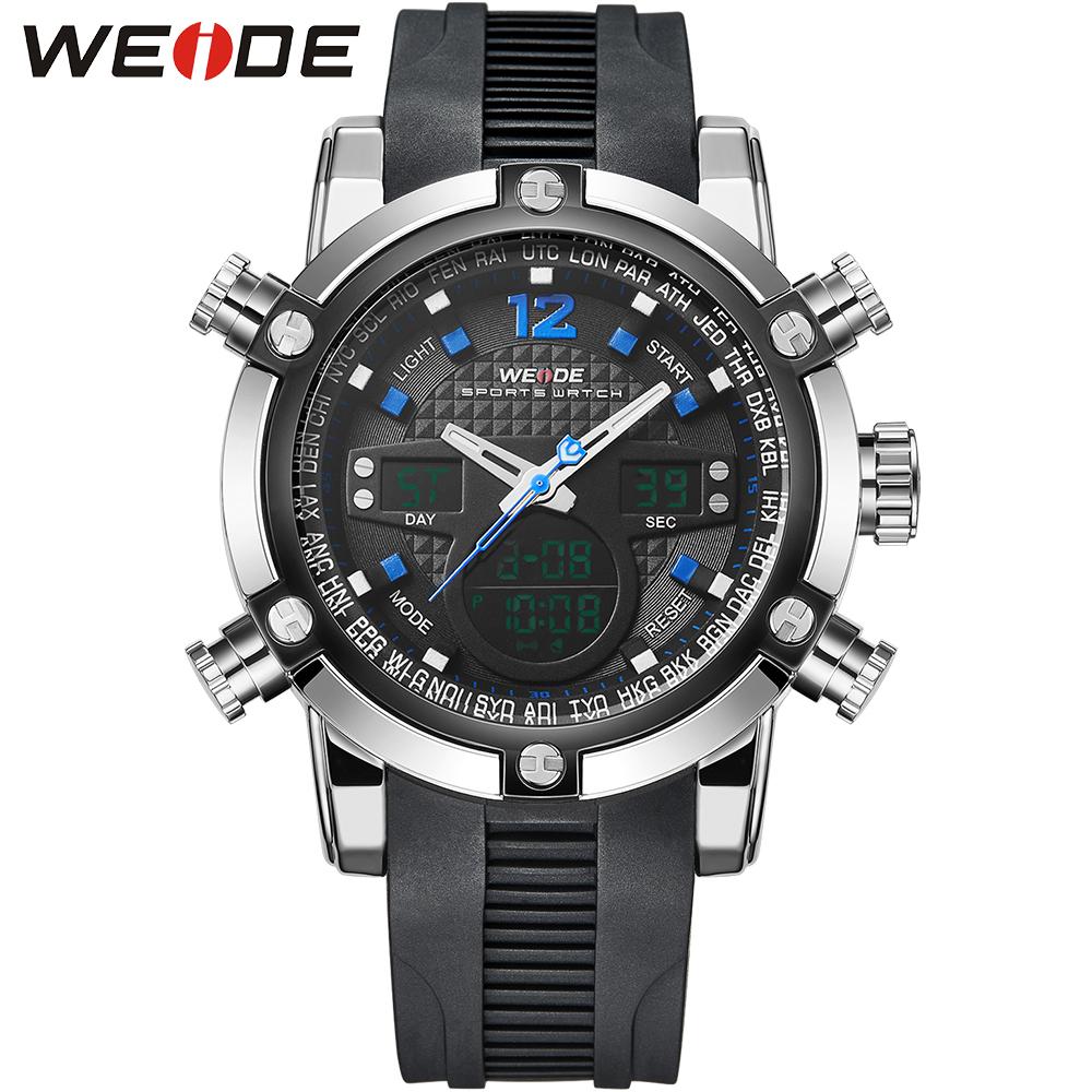 Здесь можно купить  WEIDE Brand Men Sport Watch Military PU Strap 3ATM Waterproof Men
