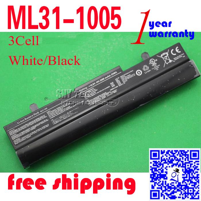3cell 10.8V 2200mah Laptop Battery ML31-1005 for Asus Eee PC 1005HA 1001 1101 1101HA 1001PXD Original batteries(China (Mainland))