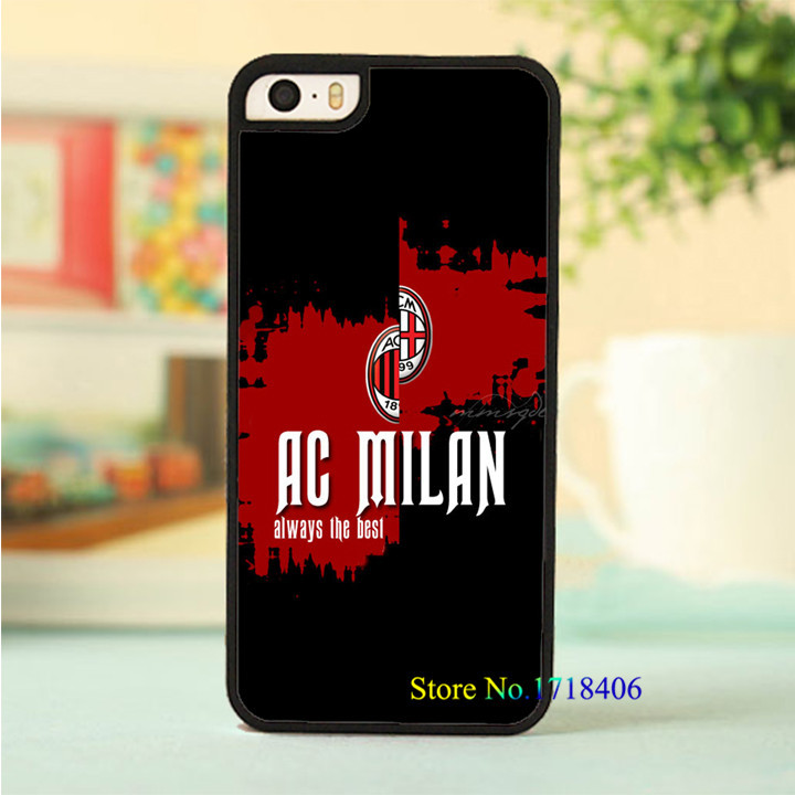 AC Milan Logo cell phone case cover for iphone 4 4s 5 5s 5c SE 6 6s & 6 plus 6s plus #6378an(China (Mainland))