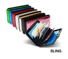 10pcs/lot New Hot Sale Aluminum Aluma Wallets Credit Card Holders Free CN Post Shipping Wholesale OPP Bag Pkg Only $19.99(China (Mainland))