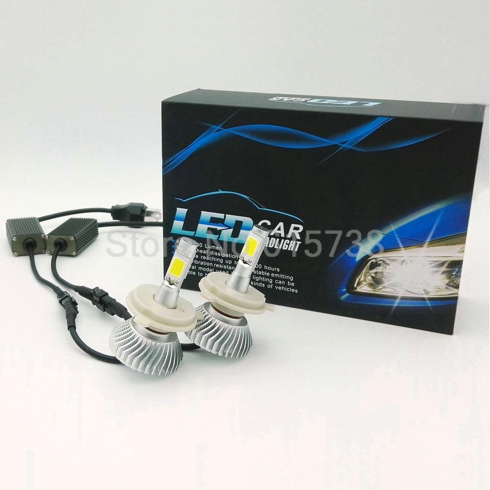 80W H4 Car LED Headlight Auto Headlamp For VW Chip Car Fog DRL Replace Light Source Driving Bulbs Copper 12V 24V (9004 9007 h13)(China (Mainland))