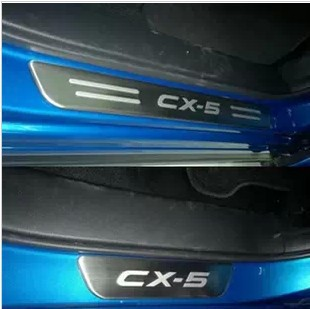 Фотография High Quality Stainless Steel Side Door Sill Scuff Plate Trim For Mazda CX-5 CX5 2012 2013 auto accessories