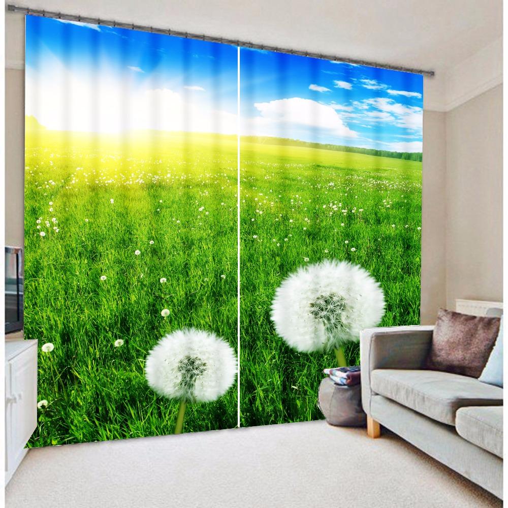 Dandelion printed vertical blinds(China (Mainland))