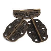 горячей Винтаж бронзовых гравированных конструкции петли шкафа ящик ювелирных изделий коробка пакет 20шт