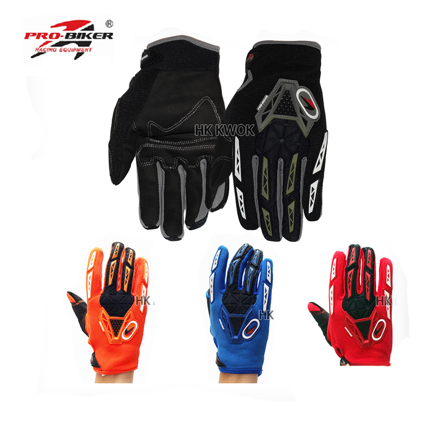 Wholsale Pro-biker Full Finger Motocross Racing Gloves Motorcycle Motorbike Protective Outdoor Sports Racing Gears Guantes Luvas