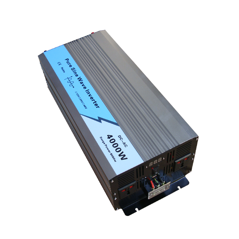 New Gangpeng Pure Sine Wave Power Inverter 4000w/8000w DC 12V/24V/48v to AC 110v/220v LED CE full power for car Solar(China (Mainland))