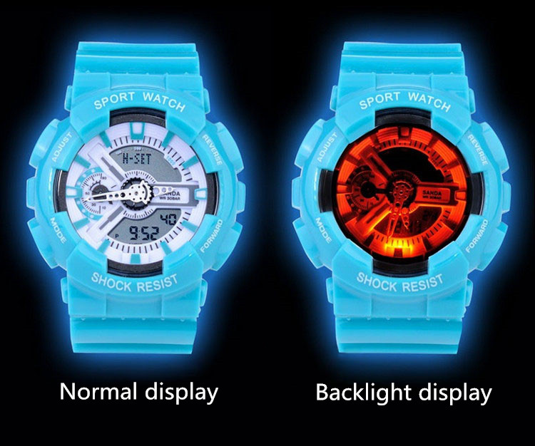 New style Men's sports watch Fashion Outdoor Shockproof Digital Wristwatch LED Watch navy military watches 2pcs/lot Free ship(China (Mainland))