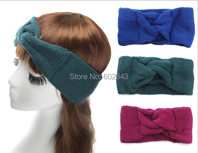 Winter Hair Band Knitted Turban headband for women Ear Warmer twist wide women headband(China (Mainland))